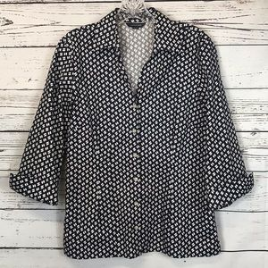 Lands End No Iron Pinpoint Oxford Shirt Ladies 10